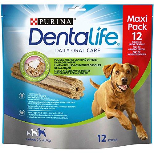 Dentalife Multipack Snack per Il Cane, per l'Igiene Orale, Taglia Large, 426 g - Confezione da 5 Pezzi