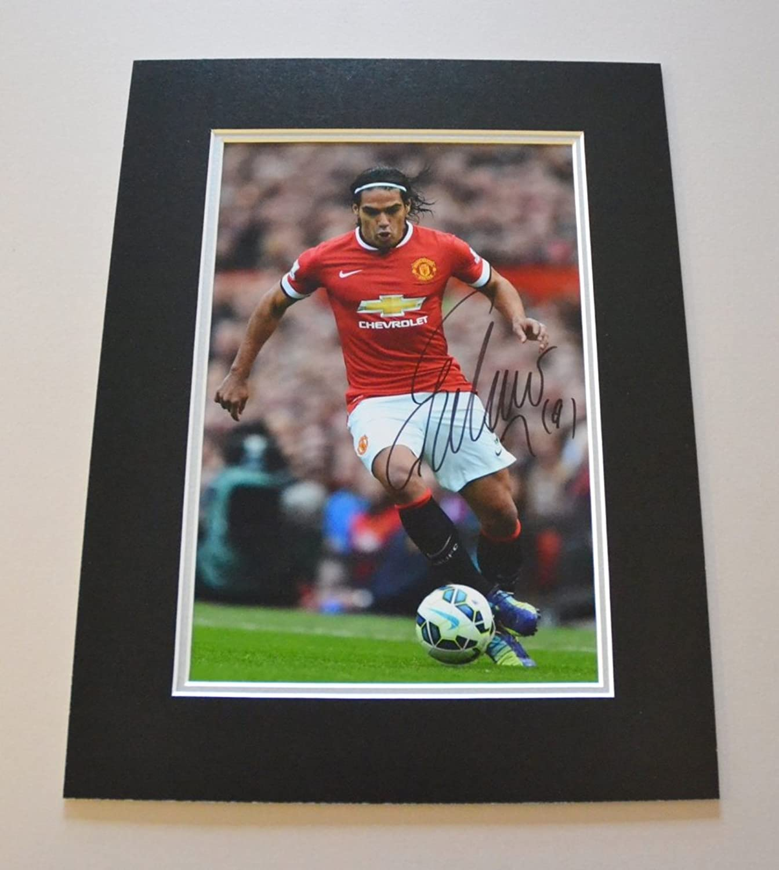 Radamel Falcao Signed 16x12 Photo Autograph Display Man Utd Memorabilia + COA