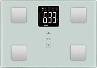 Lxmtou体重·体組成計·体重/体脂肪率/体水分率/推定骨量/基量/内臓脂肪レベルなど測定可能 Bluetooth対応 iOS/Androidアプリで健康管理 日本語アプリ対応 日本語取扱説明書付き (ホワイト)