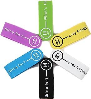 【マグネットクリップ】 配線クリップ 6色セット (ブルー ・ イエロー ・ パープル ・ グリーン ・ ブラック ・ ホワイト) 万能クリップ マネークリップ