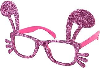 BinaryABC Easter Bunny Rabbit Costume Glasses Eyeglasses,Easter Party Favors Costume Decoration(Pink)
