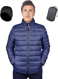 Men's Packable Slim Fit Lightweight Water-Resistant Puffer Down Jacket