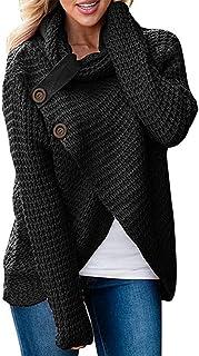 Choha Women's Turtleneck Sweaters T Shirts Knit Pullover Sweater Coats Cardigan