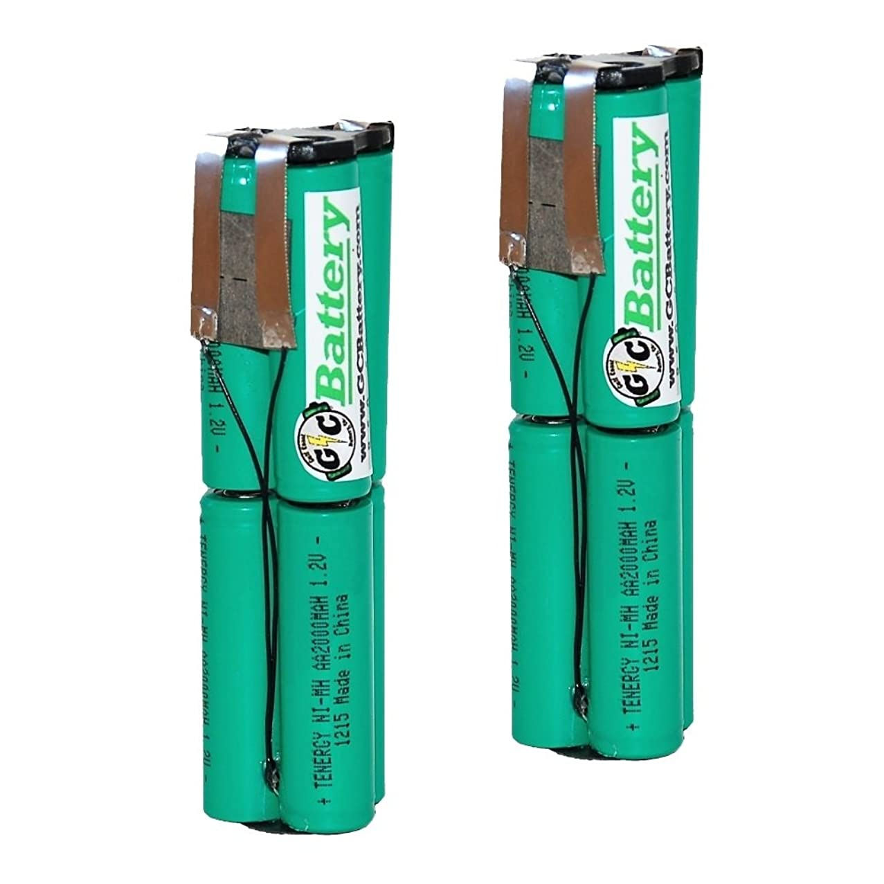 2PK G/C Battery Co. Compatible UPGRADED 2000mAh NiMH Replacement Battery Internals for Snap-On 7.2V CTB5172 | CTB5172B