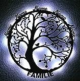 XXL - Lebensbaum Familie - Namen - Lasergravur - Geschenke - Deko Wand - led - holz baum