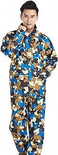 ZEMIN レインウェア レインコート ポンチョ ウインドブレーカー 防水 カバー ユニセックス セット ズボン 肌に優しい ポリエステル、 4色、 4サイズあり (色 : C, サイズ さいず : L l)