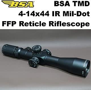 BSA TMD 4-14x44 IR ライフルスコープ FFP ミルドット レティクル (966) イルミネーション 散弾銃 エアライフル 猟銃