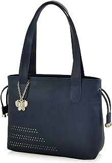 Butterflies Women's Handbag (Blue) (BNS 0608BL)