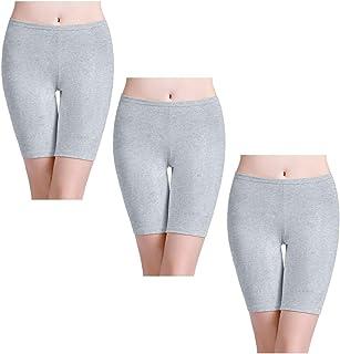 446ec1b1d8 wirarpa Womens Cotton Boy Shorts Underwear Bike Yoga Short Leggings  Multipack