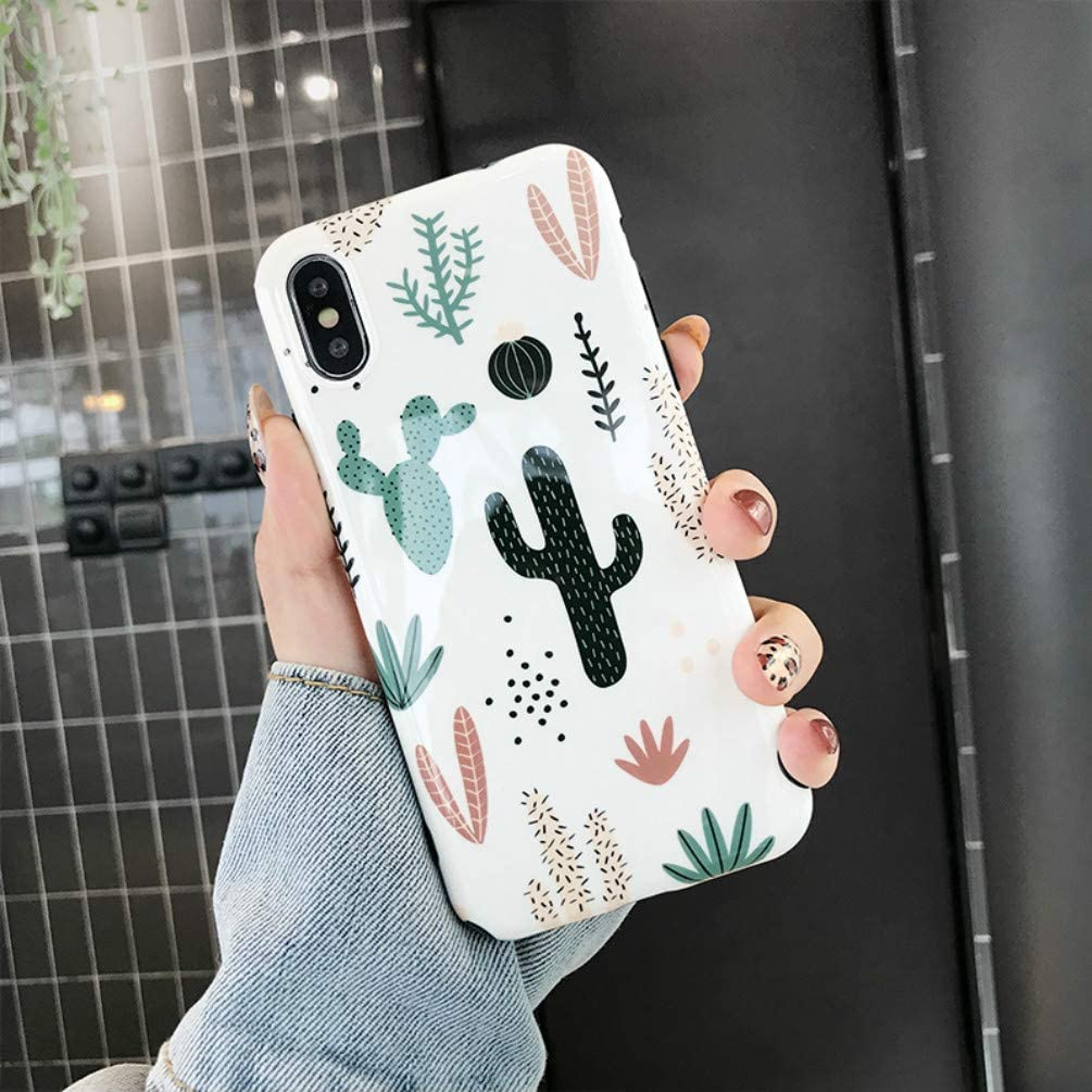 iPhone 11 Pro Max Case,iPhone 11 Pro Max Cactus Case Slim Thin Protective Phone Case Cover for Women Girls Soft Silicone Rubber Flexible TPU Bumper Case Cover for Apple iPhone 11 Pro Max 6.5