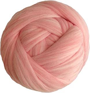 Zituop Acrylic Super Soft Chunky Yarn Bulky Roving for Arm Knitting Blanket, 1.1lb (Pale Pink)