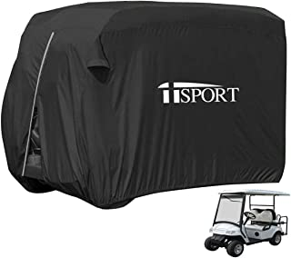 iiSPORT Golf Cart Cover - Waterproof Golf Cart Storage Cover for 4 Passenger, Golf Cart Easy-On Cover for EZ GO, Yamaha, Up to 112