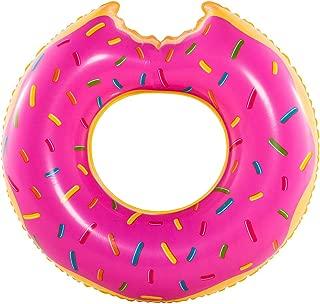 Boia Inflavel Especial Gigante, Anel Donut Rosa, Uso Adulto (p55), Bel Fix, Rosa