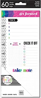 me & my BIG ideas Focus Half Sheets - The Happy Planner Scrapbooking Supplies - 60 Pre-Punched Double-Sided Sheets for You...