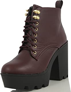 4fe63b5ae62bb Amazon.com: Moto - Red / Boots / Shoes: Clothing, Shoes & Jewelry