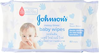 Johnson's Baby Messy Times Wipes, 80 Sheets