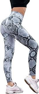 Leggings Womens Snakeskin Print Ruched Butt Yoga Pants