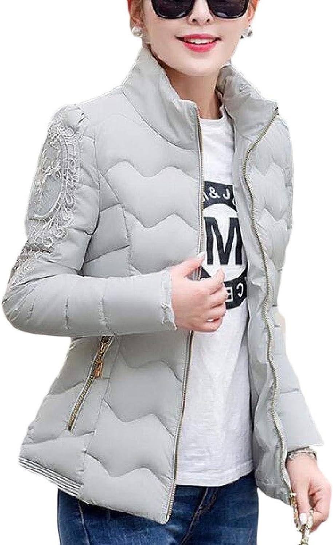 Gocgt Women Winter Stand Collar Long Sleeve Down Puffer Jacket Coat