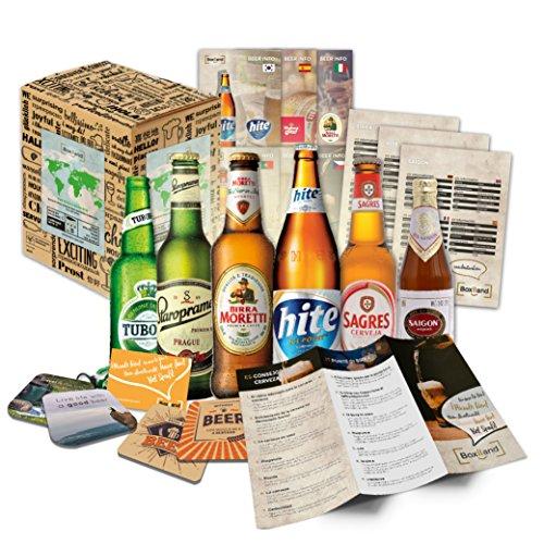 Biere del Mundo regalo + + Información de cerveza + + Catas de instrucciones + + cerveza Tapa. Hombres de cumpleaños/Navidad/día del padre. El regalo inusual y especiales