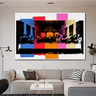 zxianc Andy Warhol Detail of The Last Supper Canvas Painting Classic Art Wall Picture for Living Room Bedroom Modern Decorati50x70cm Frameless