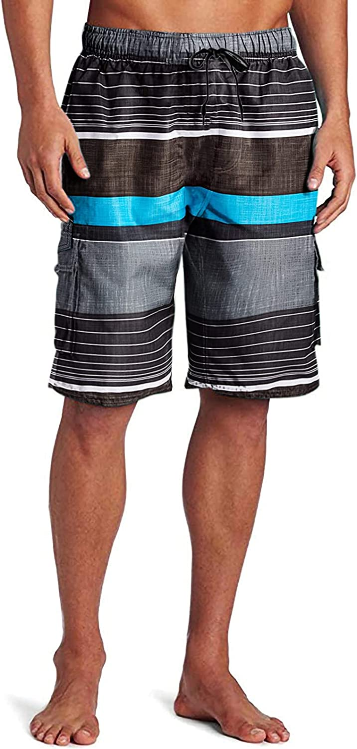 Huaa Mens Swim Trunks Quick Dry Beach Short Boardshorts for Men with Pockets Pants