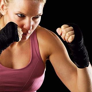 ALITREND 2 Pack 4.5Metros Vendas Boxeo Cinta Elástico Mano Muñeca, Vendaje Box para Las Manos de Artes Marciales para Prot...