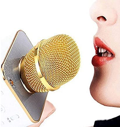 ALLNEXT Handheld Wireless Microphone With Bluetooth Speaker For All IOS/Android Smartphones,wireless microphone with Bluetooth speaker, (Colour May Vary- 1 pic)