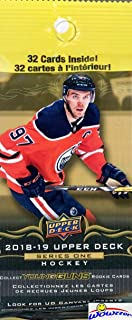 2018/19 Upper Deck Series 1 NHL Hockey HUGE Factory Sealed Jumbo FAT PACK with 32 Cards! Look for Young Gun Rookie Cards of Elias Pettersson, Rasmus Dahli, Jesperi Kotkeniemi & Many More! WOWZZER!