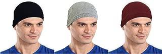 The Blazze Cotton Helmet Cap (Free Size, Black+Grey+Maroon)