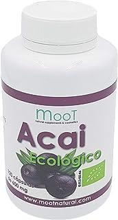 Moot Acai | 120 Cápsulas | 1000mg | Complemento alimenticio, potente antioxidante 100% bio y de Origen Natural, Sin alérgenos, Apto para vegetarianos, Made in EU.