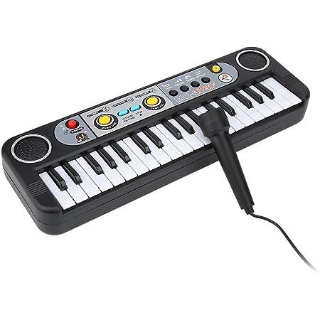 Drfeify Piano Electrónico con Micrófono, 37 Teclas Teclado Eléctrico Digital de Piano Instrumentos Musicales Juguete para Niños