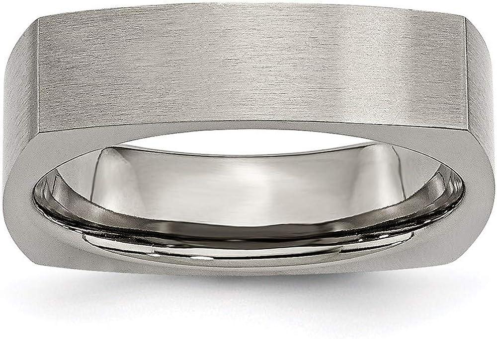 Ryan Jonathan Fine Jewelry Titanium Wedding Square Satin Ban 6mm Manufacturer direct delivery New item