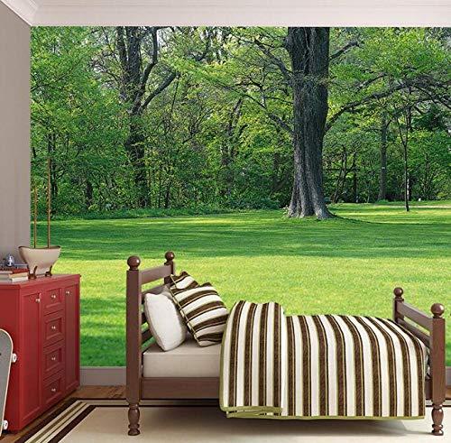 3D vliesbehang plantenvezel schilderen met bosgras gevoel van het leven wens achter tv-slaapbank als achtergrond in de woonkamer 200*140 200 x 140 cm.