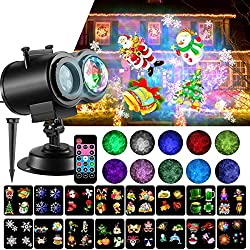 professional LED Christmas lights, 2-in-1 sea wave emitter 10 with 16 diamond patterns …
