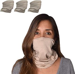 3 pcs. Neck Gaiters for Women & Men Face Mask Bandanas Scarf Adjustable Reusable Solid colors multifunctional. Sports