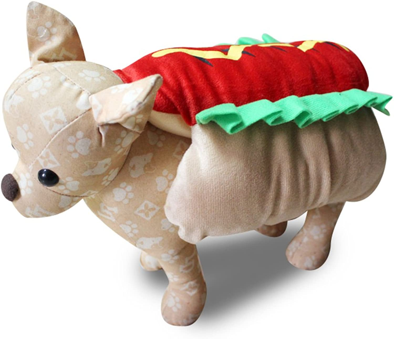 Pet Kostüm dexinghaoye Funny Hot Dog Dress Up Kostüm Puppy Pet Halloween Weihnachten Cosplay Kleidung