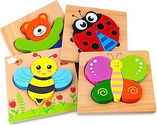 Afufu Juguetes Bebes, Puzzles de Madera Educativos para Beb