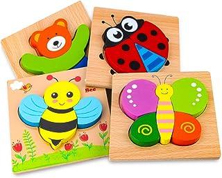 Afufu Jeux Bebe - Puzzles en Bois, Jouets Montessori Enfant 1 2 3 4 Ans, Puzzle à Encastrements, Bébés Animaux Jeu Educati...