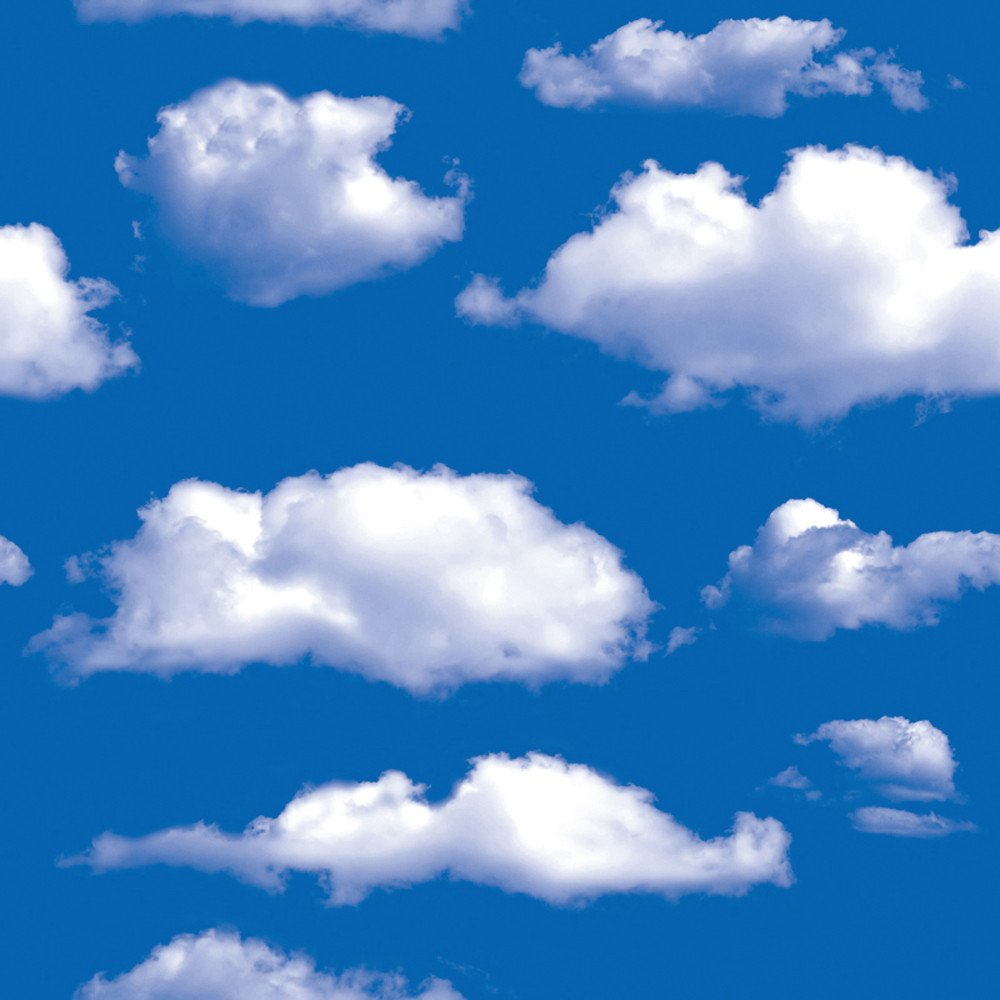 Wearefo Wall Sticker Wall Decor Blue Sky and White Cloud Stickers ...