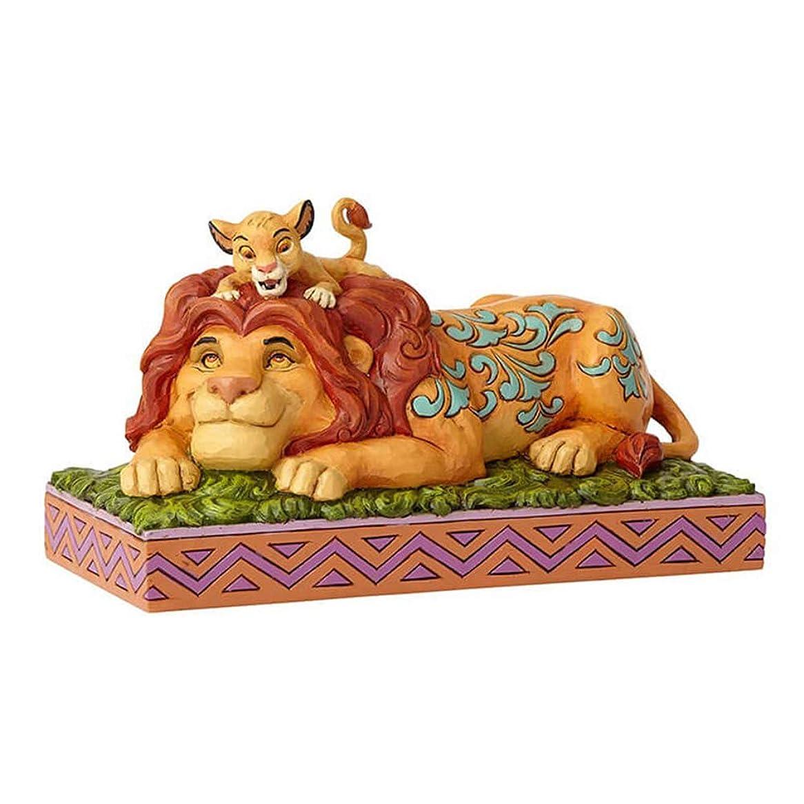 第二に通り抜ける曖昧なenesco 置物 Simba & Mufasa W19.5×H11.2×D10.3cm Disney Traditions 6000972