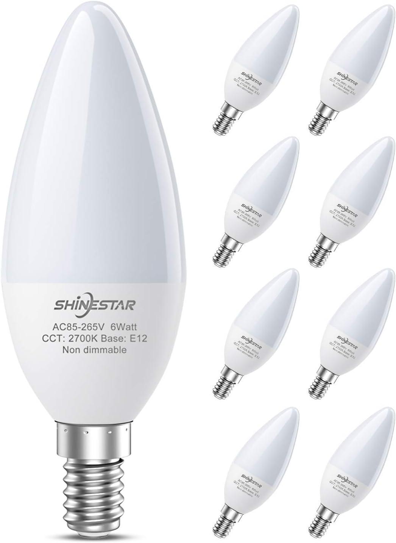 SHINESTAR Sale Special Price 8-Pack Warm White LED Ceiling Bulbs 60 Light Watt Fan Seasonal Wrap Introduction