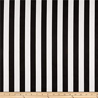 Richland Textiles 1 in. Stripe Black/White Fabric By The Yard