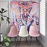 laamei Tapiz Colgante de Pared Elefante Tapicería Floral Tapiz Hippie Mandala Manta de Playa Esterilla de Yoga Tapices Gitano Bohemio Decoración de Hogar