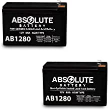 2 Pack 12V 8AH AB1280 F1 Scooter Bike Battery Replaces 7Ah High HGH 6-DFM-7
