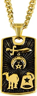 4031835 Shriner Necklace Shrine Prince Hall Mason Masonic Camel Fezz Scimitar
