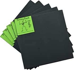 Black 6mm Thick (5 Pack)-Self-Stick Adhesive 9.5
