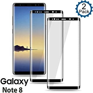 Galaxy Note 8 Screen Protector [2-Pack], Tempered Glass Screen Protector [Case-Friendly][No Bubbles][Easy to Install][Anti Fingerprint] Screen Protector Compatible with Samsung Galaxy Note 8