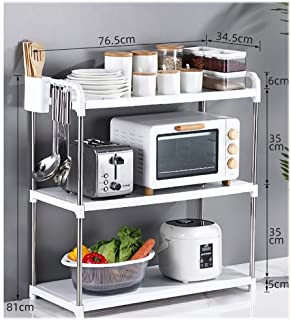 WSCC Grille de Four à Micro-Ondes Multifonctionnel Shelf étage Multilayer Four Assaisonnement Micro-Ondes Rack (Taille : 8...