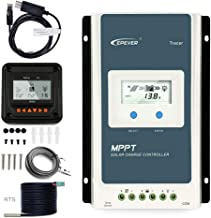 Temank EPEVER 40A MPPT Charge Controller 12V 24V Auto, 40 amp Negative Grounded Solar Charge Controller MPPT Max Input 100V, 520W/1040W for Lead-Acid, Lithium Batteries and Load Timer Setting