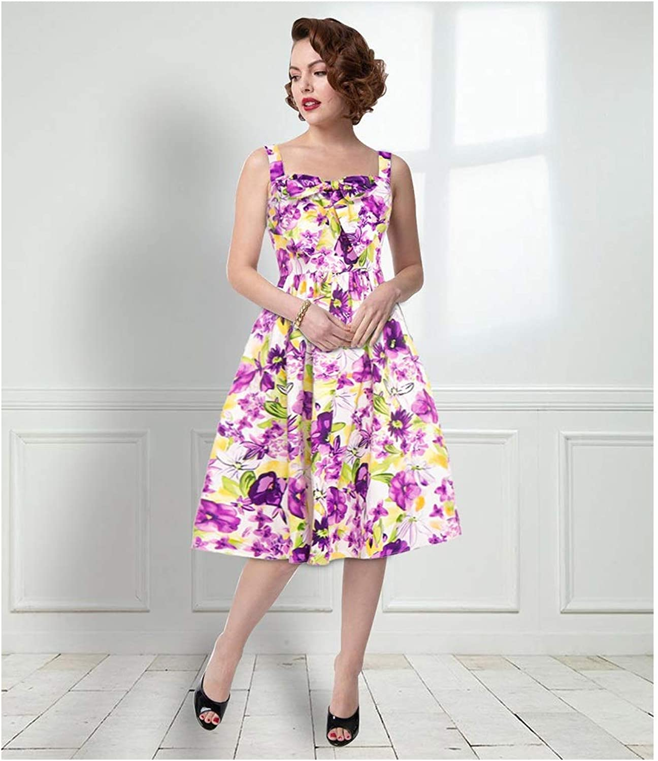 CARRY Dress, European and American Comfortable and Soft Ladies Cocktail Dress VNeck Sling Sexy Slim Dress (color   color2, Size   M)